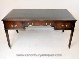 Английский Regency стол Письменный стол из красного дерева