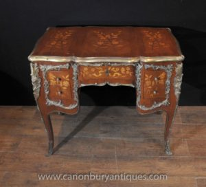 Античный Людовик XV Колено Hole Стол Письменный Стол бюро 1920