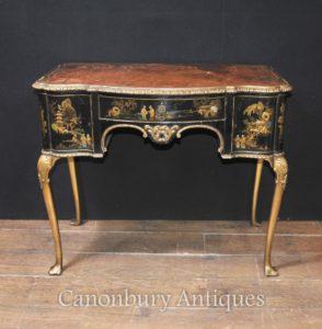 Античный английский Chinoiserie Ladies Письменный стол Стол 1900