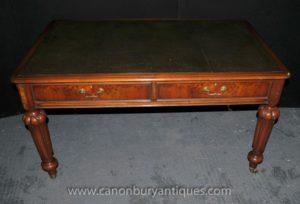 Античный Gillows Письменный стол Стол в Walnut английской мебели