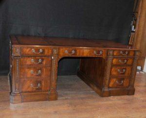 Викторианский из красного дерева стол Письменный стол Антикварная мебель Столы