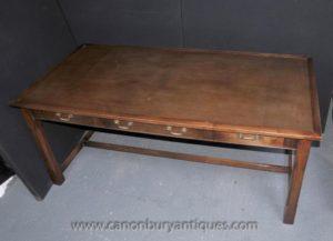 Дуб Стол Письменный Стол Бюро Plat Ферма Кухня Refectory Столы