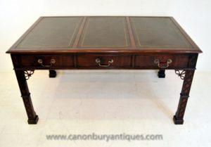 Китайский Чиппендейл Письменный стол Письменный стол Мебель из красного дерева