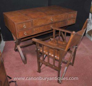 Кожаный стол кампании и Набор стульев Письменный стол Камера Офисная мебель