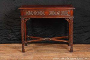 Красное дерево Чиппендейл стол Side Письменный стол Бюро Plat