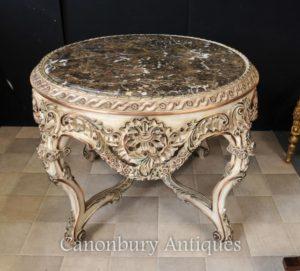 Людовик XVI Нарисованный Круглый центр Обеденный стол Центр