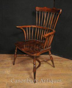 Одно кресло Античный Дуб Виндзор Arm