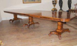 Ореховый Regency Расширение Обеденный стол 14 футов Diner