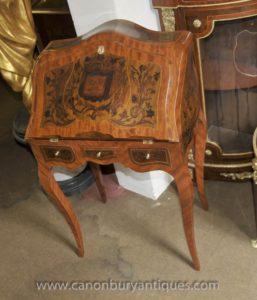 Французская империя бюро De Dame стол Письменный стол Маркетри Инкрустация
