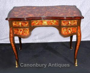 Французская империя стол Цветочные Маркетри Инкрустация Письменный Стол бюро
