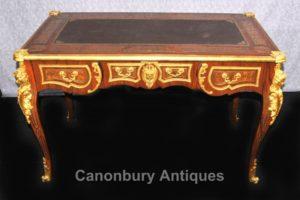 Французский Буль Письменный стол Стол бюро Plat золоченая бронза Кингвуд