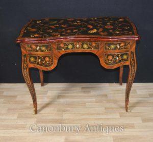 Французский Людовик XVI Стол бюро De Dame Письменный стол Plat инкрустация