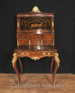 нтичный Французская империя Bonheur Du Jour Управление Письменный стол Inlay