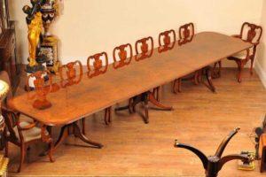 16ft Орех Regency Пьедестал Обеденный стол мест 18