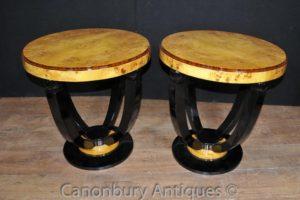 Art Deco Коктейльные столы Боковые столы Walnut Интерьеры