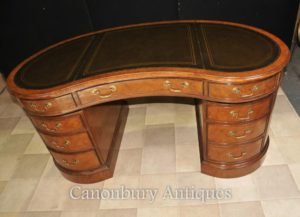 Regency Фасоль стол в Walnut Письменный стол бюро