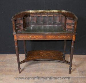Regency Carlton House стол из красного дерева Маркетри Инкрустация Письменный стол