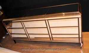 Зеркальный комод в стиле ар-деко Тройной фасадный комод