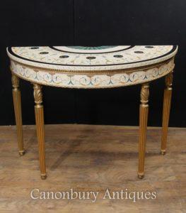 Одиночный стол Adam Demi Lune