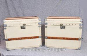 Пароход Пароход Trunk English Кожаные багажные ящики Шкафы Столы