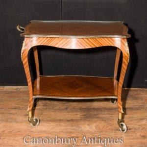 Французская империя Kingwood Butlers Trolley Side Table Stand