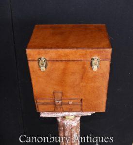 Английский Кожаный хомут Шампанское Виноохладитель Ice Bucket Steamer Коробка багажника