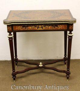 Настольные игровые столы Louis XVI Marquetry Inlay