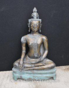 Большая бронзовая статуя Будды в непальском стиле Буддизм Буддийское искусство Непал