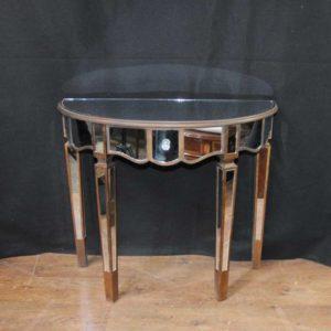 Зеркальная консольная таблица Art Deco Demi Lune Tables