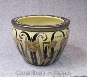 单艺术风格的意大利陶瓷花盆 fieravino