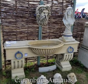 Английский Камень Водный корытовый фонтан Нептуна