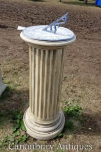 Классический камень Doric Sundial Garden Art Time