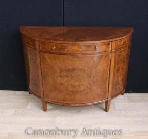 Regency Walnut Шкаф для шкафа Demi Lune