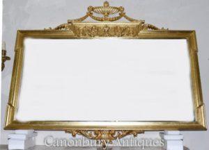 Большой регентский Адамс Мантия Зеркало Позолоченное стекло
