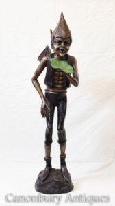 Бронзовая кельтская статуя кастинга Пикси Фейри