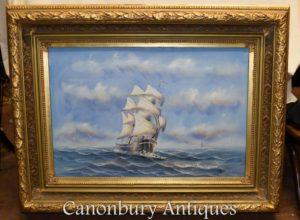 Морской пейзаж Морской корабль
