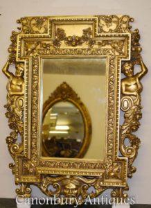 Позолоченный пирс Зеркало Атлас Сатир