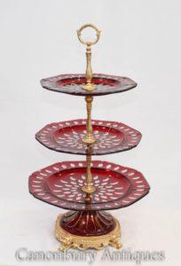 Французский стеклянный торт с подставкой Empire Three Tier Plates