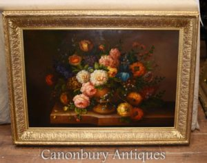 Цветочный спрей масляной живописи English Викторианский цветок