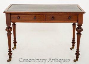 Античный викторианский стол для письменного стола