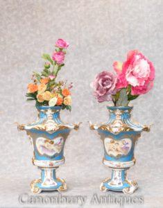 Пара Парижа Севры залитые горшки Урны Черубские вазы