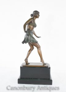 Танцовщица ар-деко статуи Ридера Статуэтка египетского танца