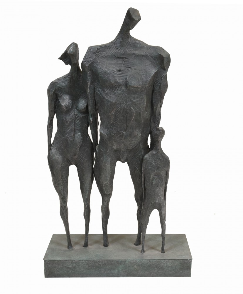 Бронзовая семейная фигурка Модернистская статуя абстрактного искусства Джакометти